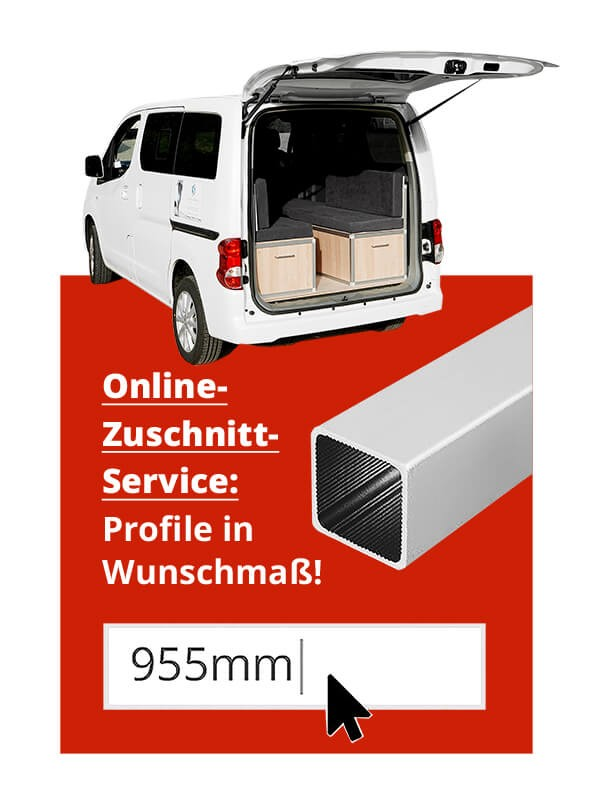ALUSTECK® Zuschnitt Service - Camperbox Selbstbau USP