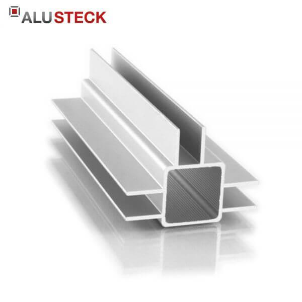 Aluprofil 25x25x1,5mm 3 Doppelstege 15mm: Quadratrohr 6m Lagerlänge