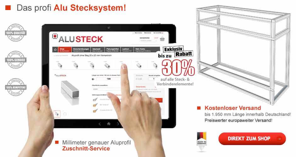 Alu Stecksystem Terrarium