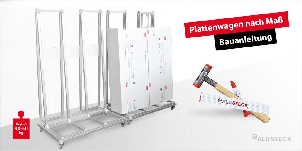 Plattenwagen für die Bertiebseinrichtung selber bauen Bauanleitung