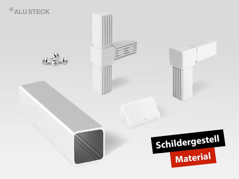 Werbetechnik Material für den Bau von Schilderanlagen
