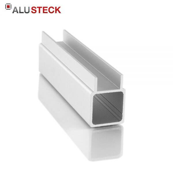 Aluprofil 25x25x1,5mm 1 Doppelsteg 10mm: Quadratrohr 6m Lagerlänge