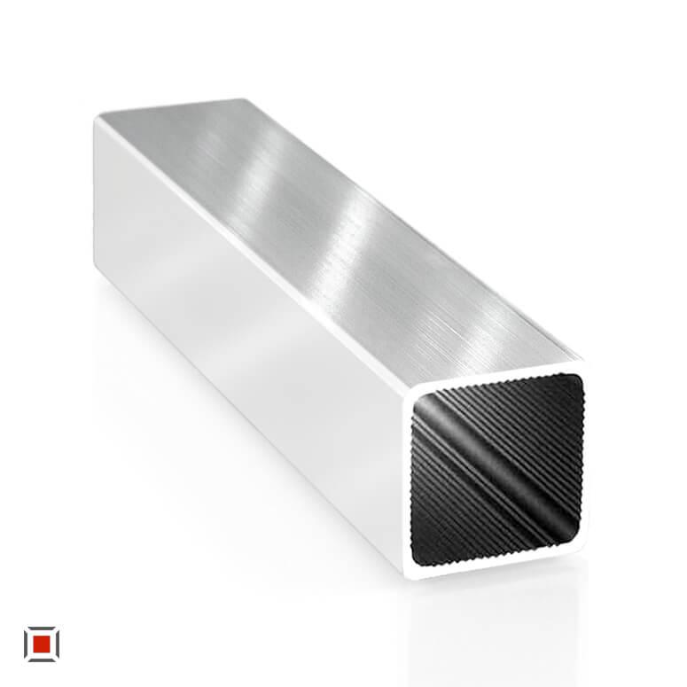 Alu Vierkantrohr pressblank 25 x 25 x1,5 mm ALUSTECK® Quadratrohr R-V25-blank