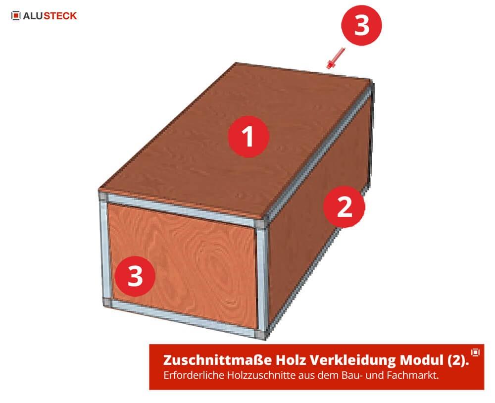 Holz-Zuschnitte Material - Maße Verkleidung Korpus Camperbox Modul-2 Baumarkt