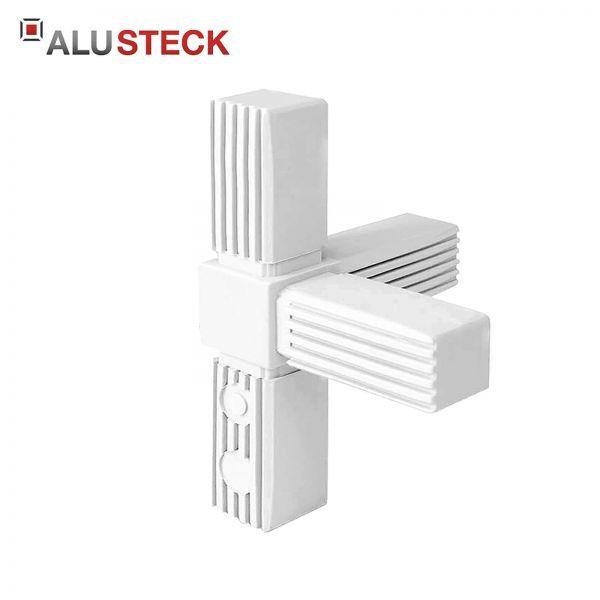 T-Verbinder 1 Abgang für 25x25x1,5mm Vierkantrohre - XD Kunststoff Vierkantverbinder - Eckverbinder quadratisch - Rohrverbinder Stahlrohr geeignet