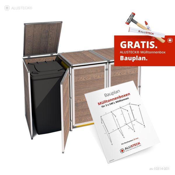 Bauplan Mülltonnenbox / Tonnenhaus / Mülltonnenverkleidung