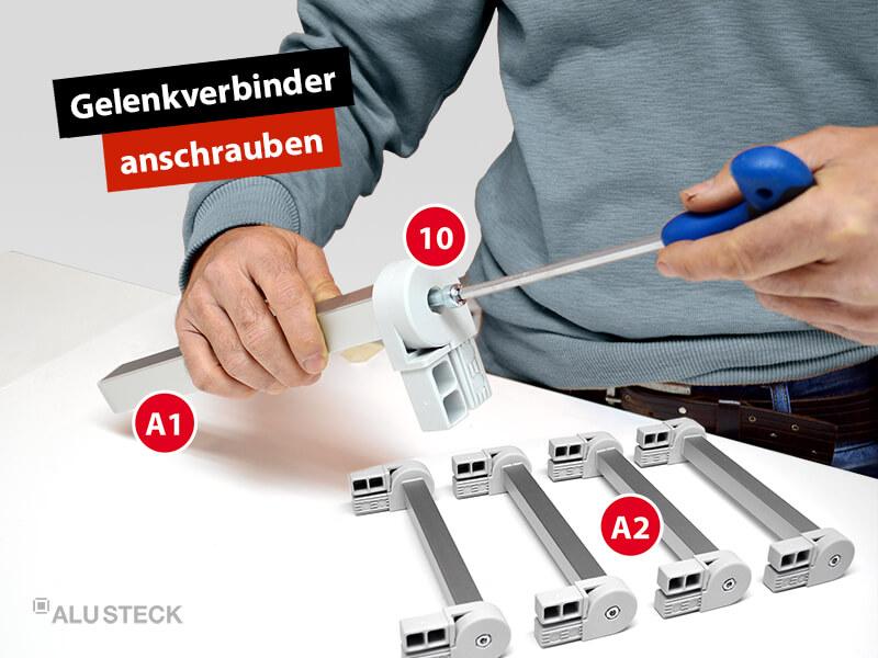 plattenwagen-plattenstuetzen-bauen-bauanleitung-schritt-2-2-gelenkverbinder-an-baugruppe-A1-anschrauben